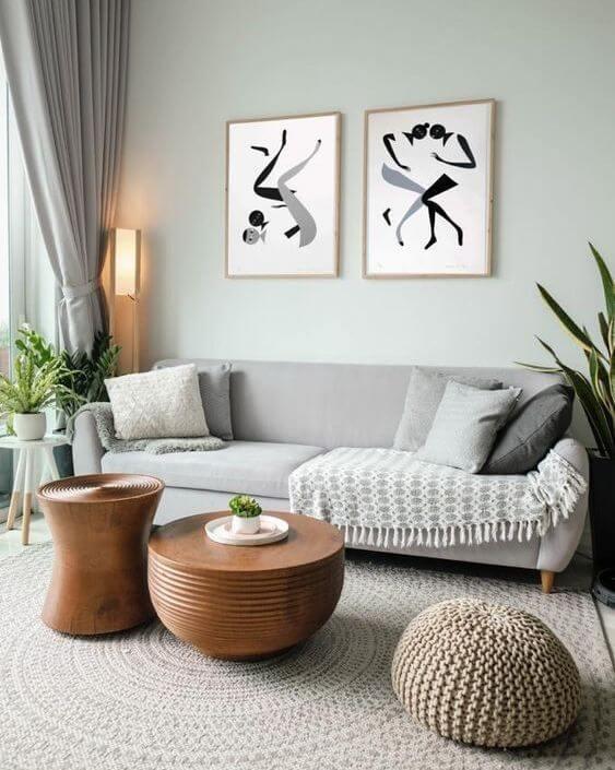 arte minimalismo y geometrico tendencia decoracion 2021