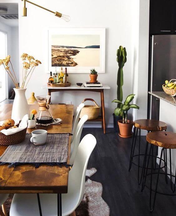 mesa comedor estilo mid century